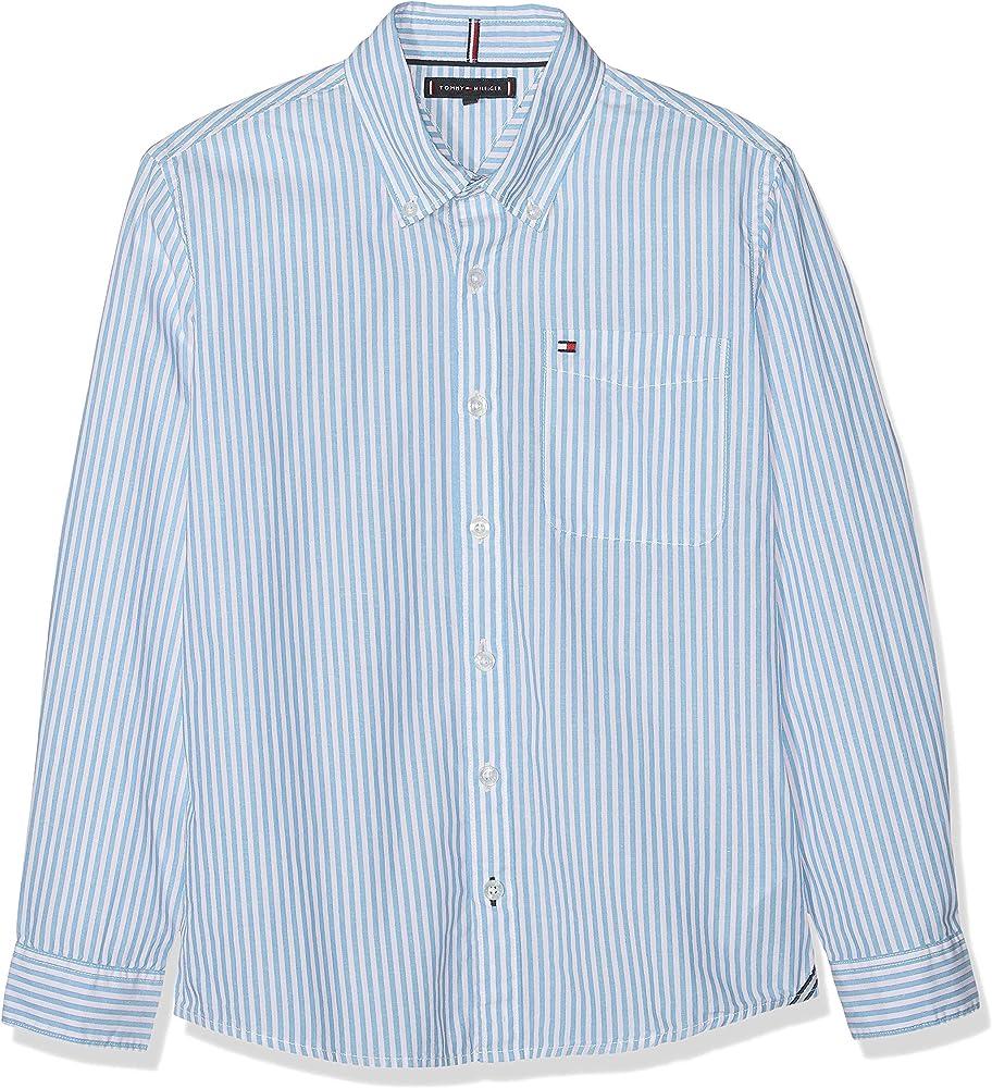 Tommy Hilfiger Essential Stripe Shirt L/s Camisa, Azul (Blue 0A5), (Talla del Fabricante: 74) para Niños: Amazon.es: Ropa y accesorios