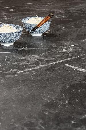 Schwarzer Marmor Resopal Kuchenarbeitsplatten 4 1m 600mm 38mm