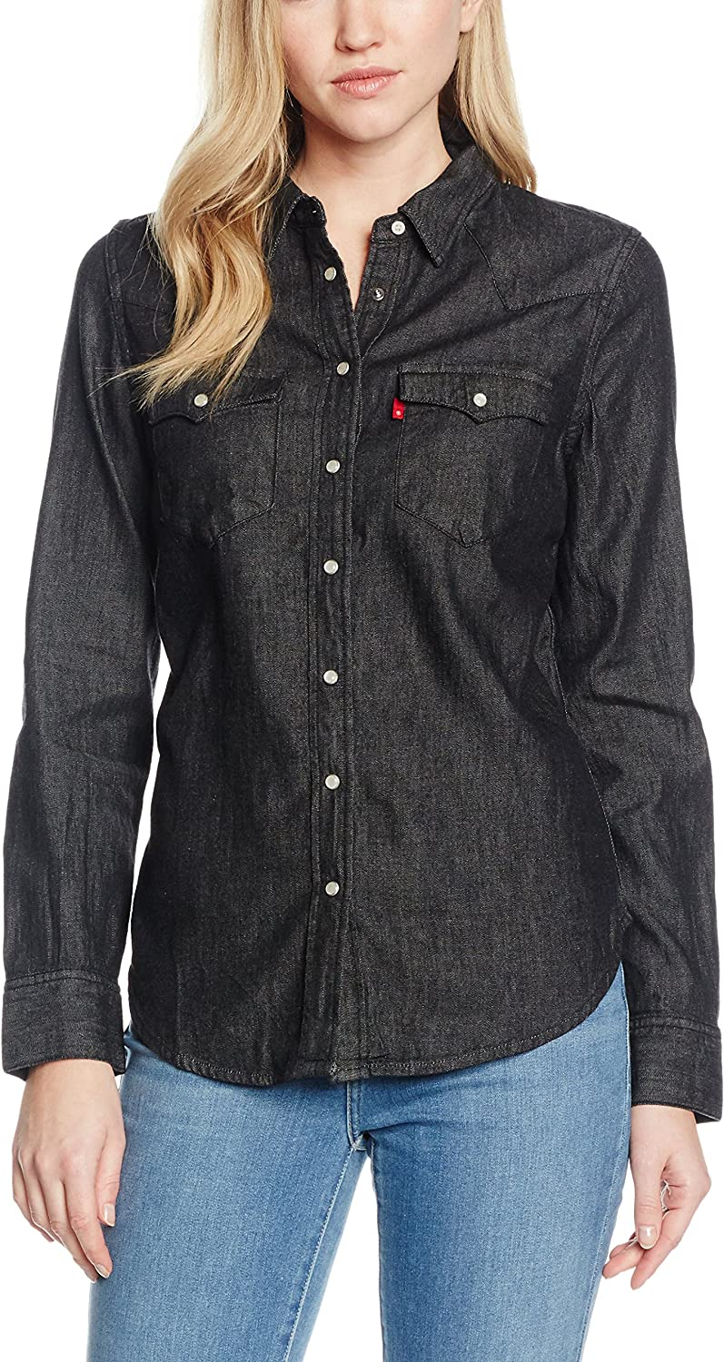Levis Camisa Mujer Tailrd Classic Western Gris Oscuro XS ...