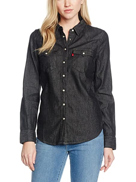 Levis Camisa Mujer Tailrd Classic Western Gris Oscuro XS