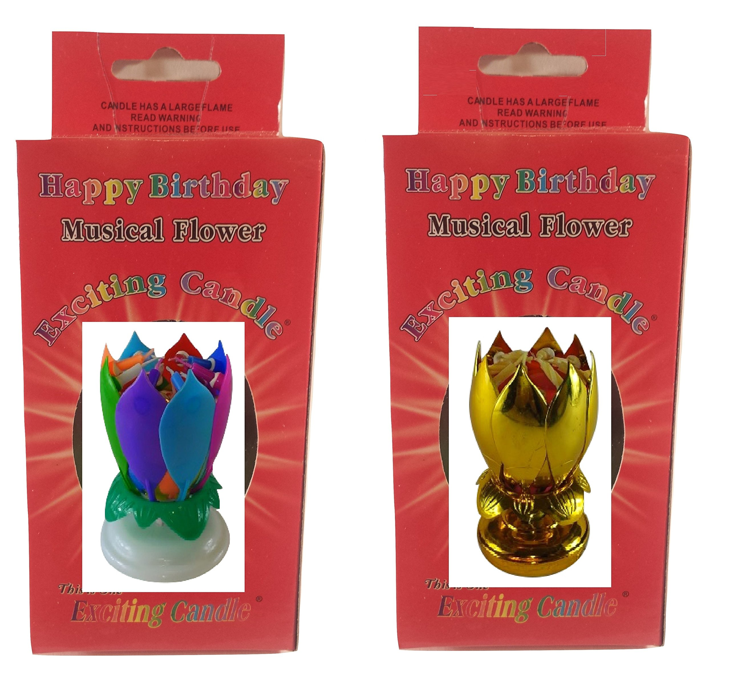 Birthday Candle Two Pack (Rainbow Gold)
