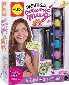 Alex Craft Paint and Sip Ceramic Mug Kids Art and Craft Activity
