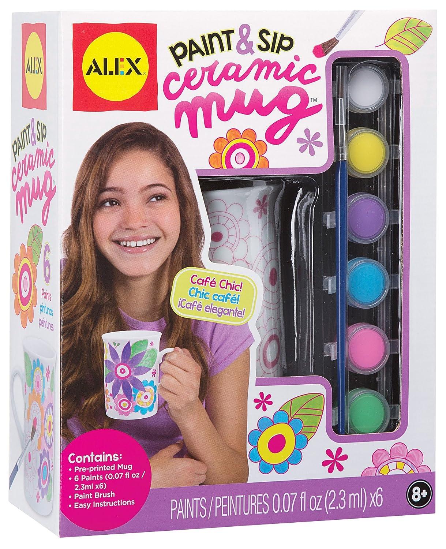 Paint and sip ceramic mug