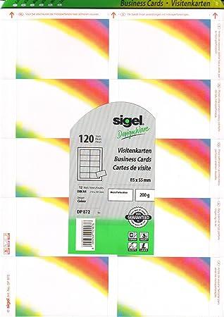 Sigel Drucken Sie Ihre Eigenen Visitenkarten Dp872 Color