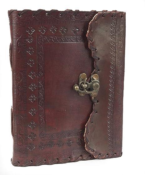 Amazon.com: piel diario cuaderno para escribir agenda de ...
