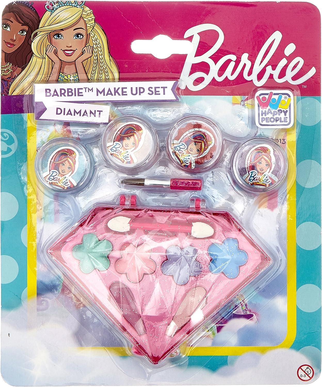 Happy People 52013 diamantes Barbie Makeup Set de accesorios para Look para niñas, Rígida, Make Up , color/modelo surtido: Amazon.es: Juguetes y juegos