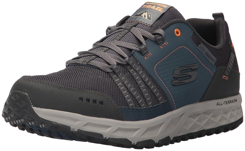 Skechers Escape Plan, Zapatillas de Entrenamiento para Hombre 48.5 EU|Azul (Navy/Orange)