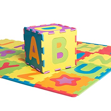 36 SQ FT LEARNING ABC//123 ALPHABET NUMBER FOAM PUZZLE PLAY MAT SAFETY FLOOR MATS