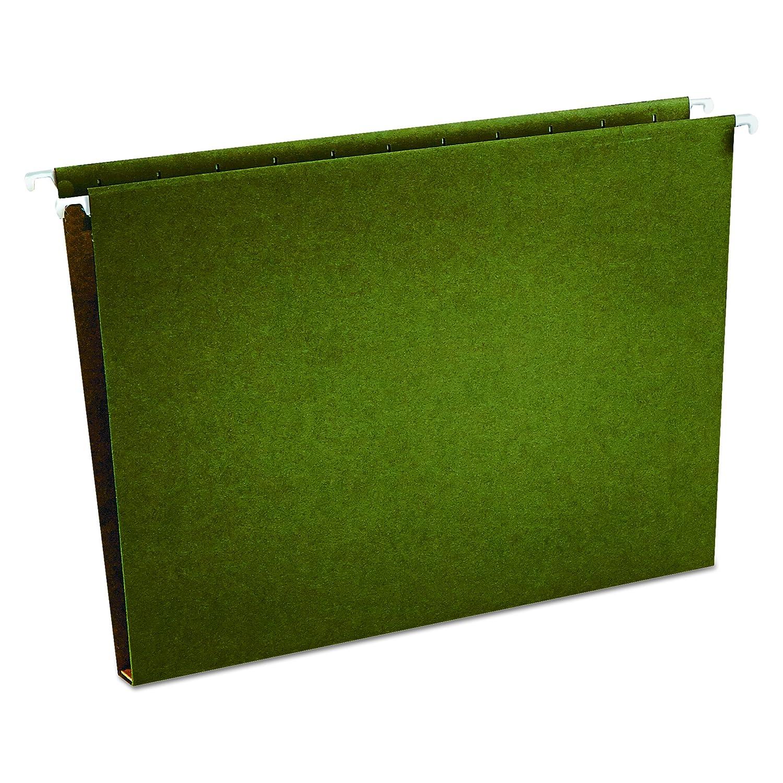 Universal Un Fondo de la caja Carpeta verde Colgante, cartón prensado, carta, verde Carpeta estándar, 25/caja (14141) 4a3587