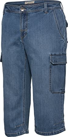 d4cbbf88c183 HENSON HENSON Cargo-Capri-Jeans in Hell-Blau, 3 4 Hose für Herren ...