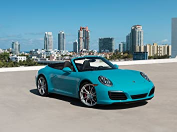 Porsche 911 Carrera S (991) Cabriolet (2017) Car Print on 10 Mil