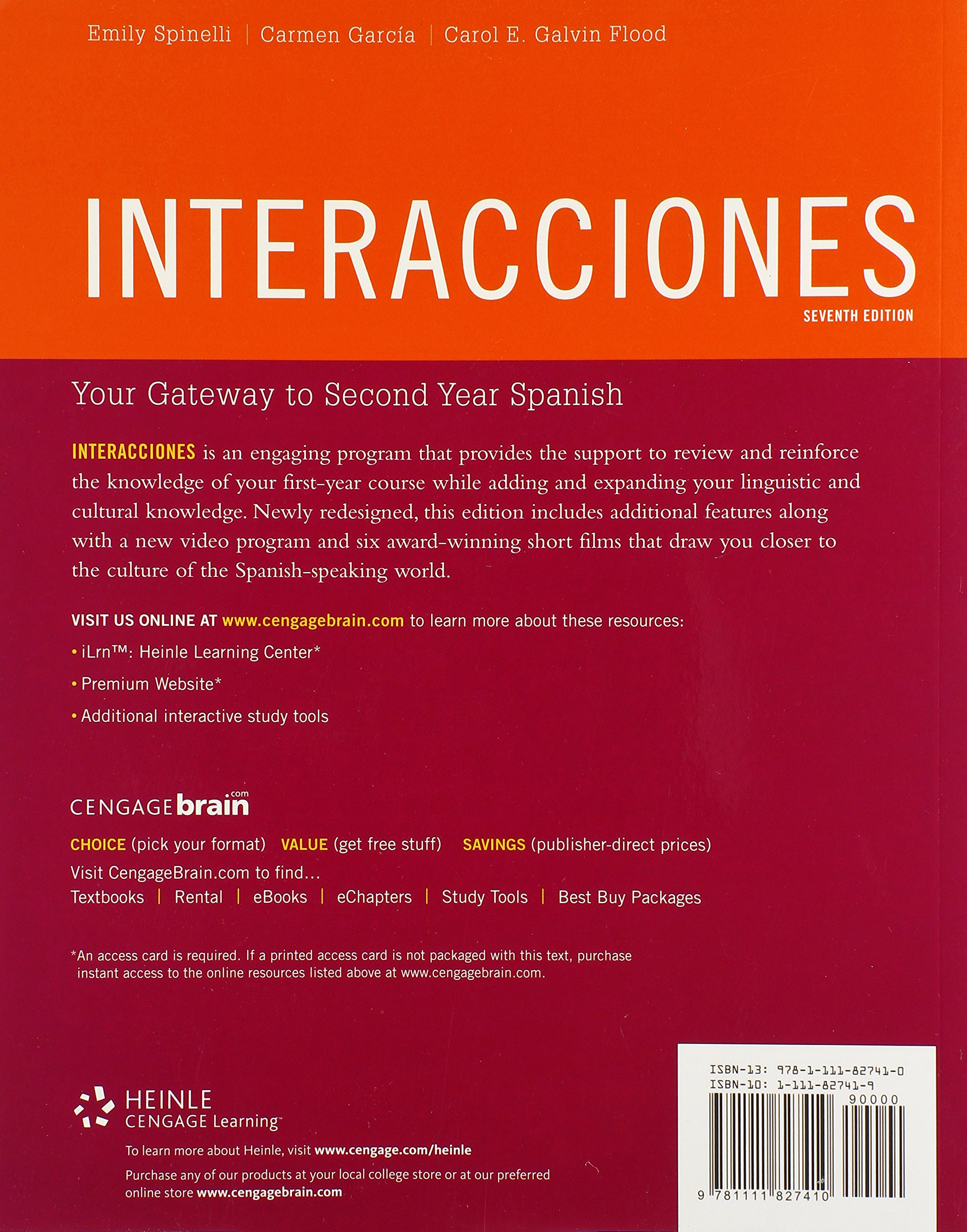 Interacciones (World Languages) by Cengage Learning