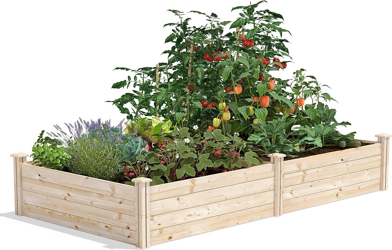 Greenes Fence Original Pine Raised Garden Bed, 4' x 8' x 14
