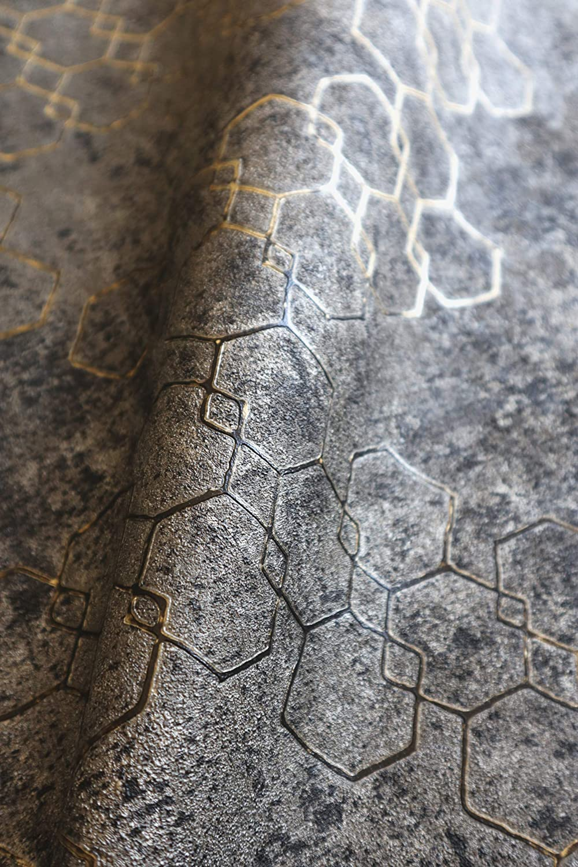 Tapezier-Ratgeber Mustertapete Modern Gold Bl/ätter Ornamente Retro Grafisch 50er Art Glamour inkl NEWROOM Tapete Schwarz Vliestapete Pfauenfeder
