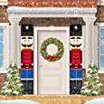 ORIENTAL CHERRY Nutcracker Christmas Decorations - Outdoor Xmas Decor - Life Size Soldier Model Nutcracker Banners for Front Door Porch Garden Indoor Exterior Kids Party
