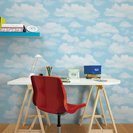 Fresco Great Value Cloud Nine Sky Print Clouds Wallpaper Bedroom ...