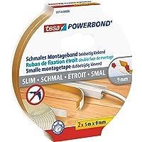 tesa Powerbond Slim, 5m x 9mm, wit
