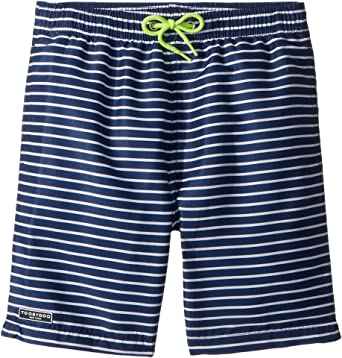 4f7a83536b Toobydoo Baby Boy's Navy White Pinstripe Swim Shorts (Infant/Toddler/Little  Kids/