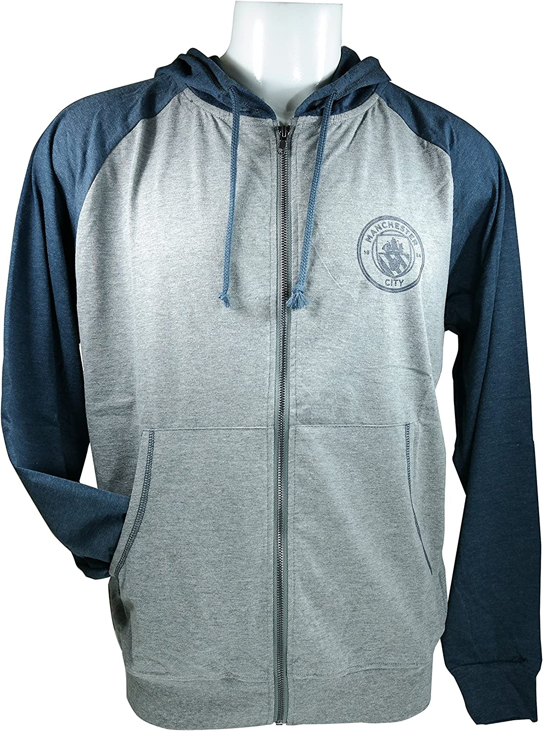Youth Manchester City Soccer Lightweight Full-Zip Hoody