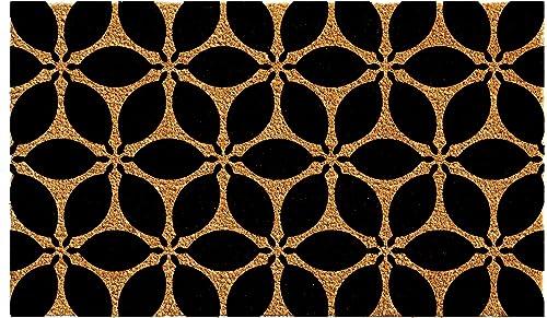 Home More 102952436 Pansies Doormat 24 x 36 , Black Natural