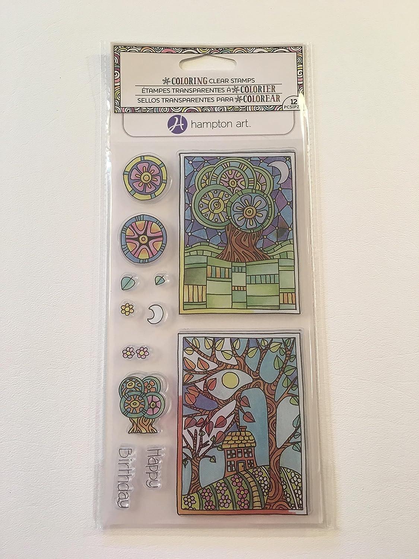 Amazon.com: Hampton Art Color Me sellos ~ Feliz cumpleaños ...
