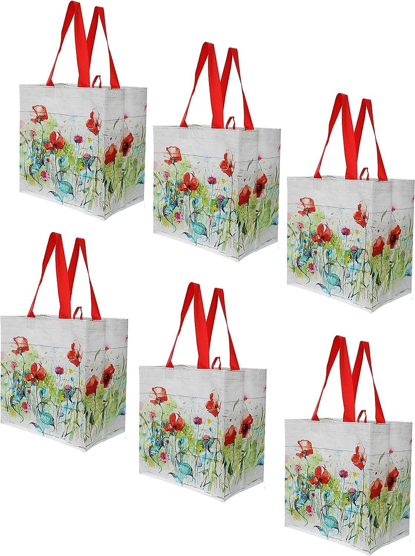 100//case Nouveau Earthwise Réutilisable//pliant Grocery Shopping Sacs Silo Print