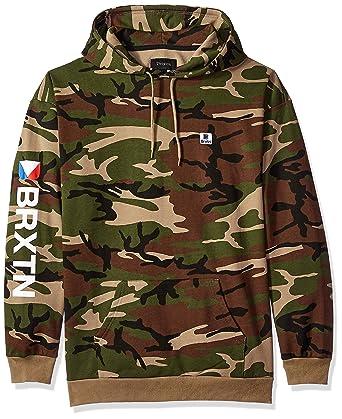 479c340c Amazon.com: Brixton Men's Stowell Relaxed Standard Fit Hood Fleece  Sweatshirt: Clothing