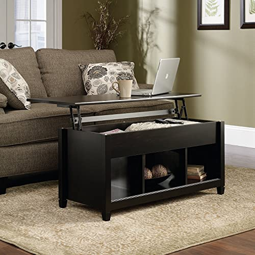 Premium Quality Low Coffee Table with Hidden Lift Top and Lower Storage Compartment for Contemporary Home and Living Room 1, Black