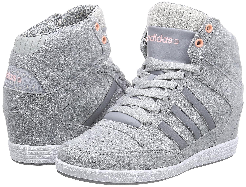 adidas keil sneaker wedges grau