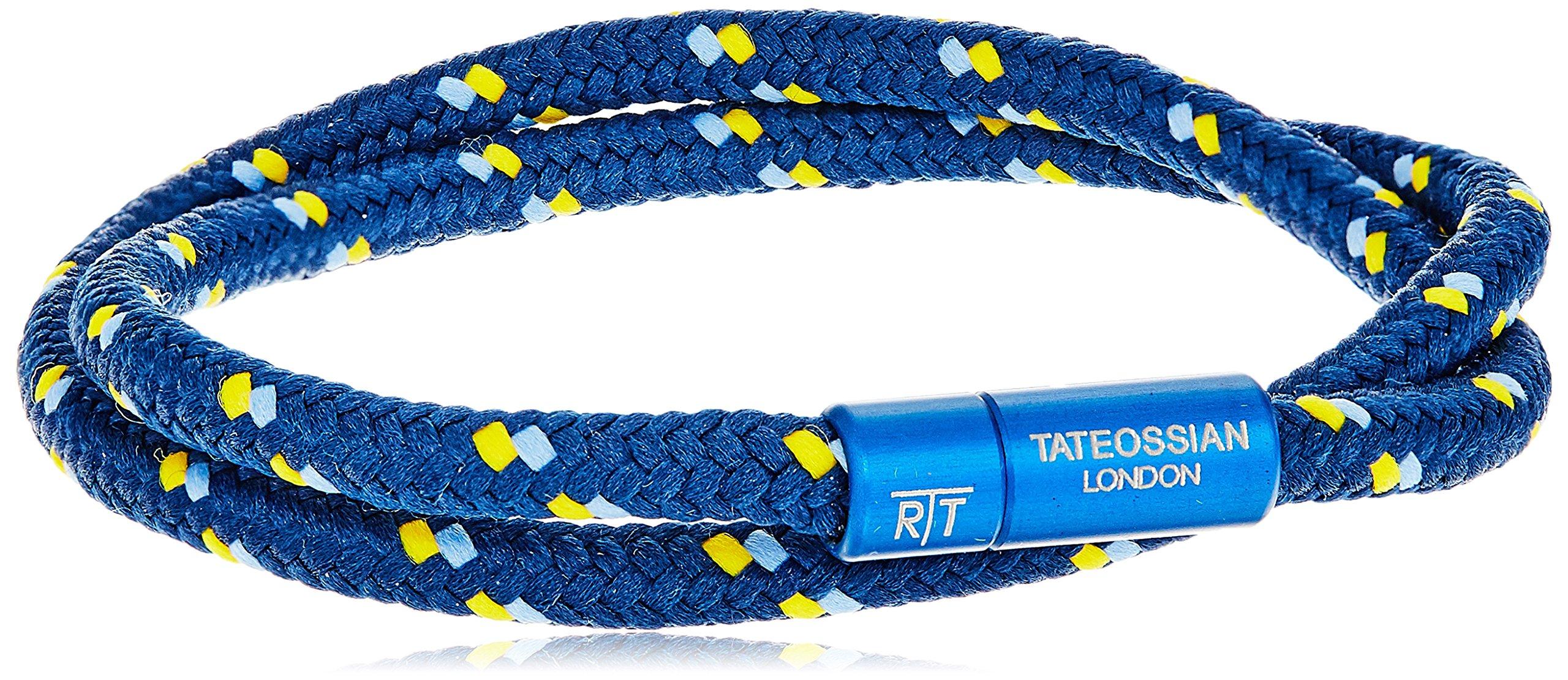 Tateossian Alum Nylon Blue 2 strand Shoelace Sport Blue Medium Bracelet