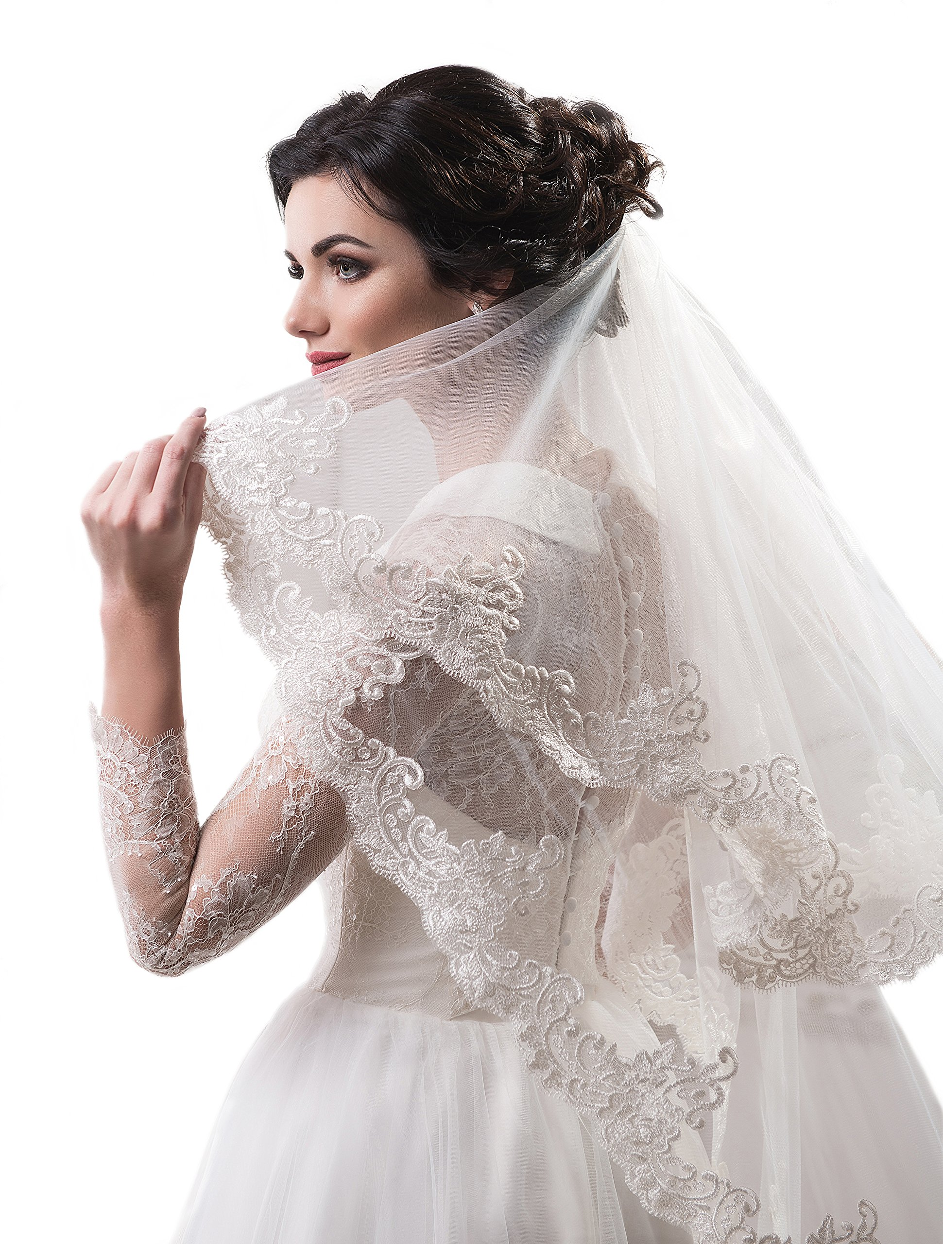 Bridal Veil Abby from NYC Bride collection (short 30'', white)