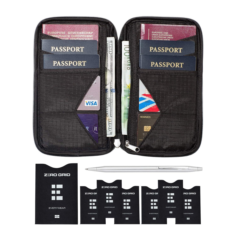 Portadocumentos para Viajes - Cartera de Viaje para Documentos - Porta Pasaportes Familiar con Bloqueo RFID: Amazon.es: Equipaje
