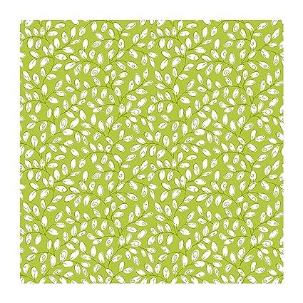 York Wallcoverings KB8518 Bistro 750 Mini Vine Prepasted Wallpaper Lime Green White