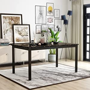 Furniture of America Rath Transitional Black 60-inch Dining Table