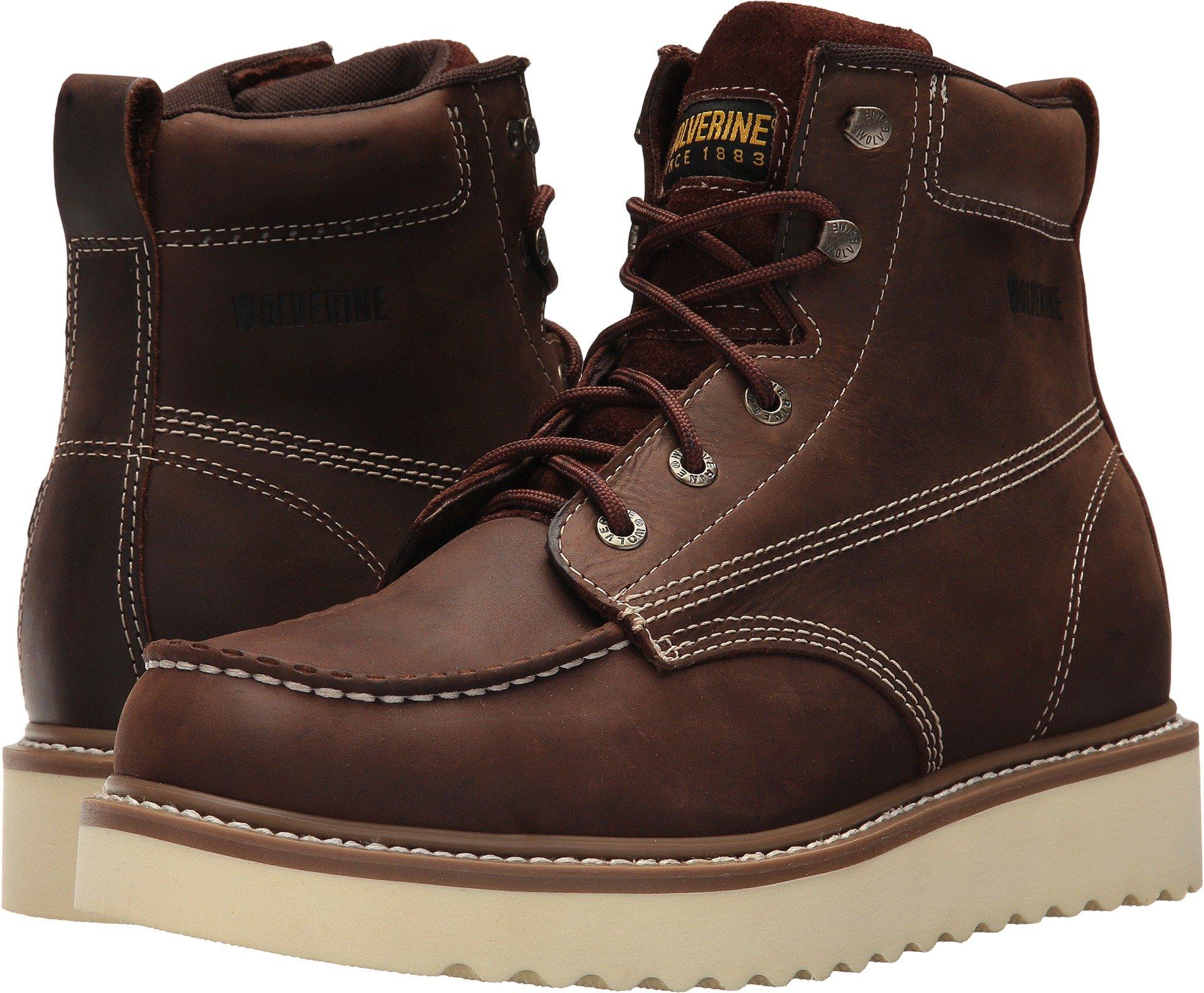 Wolverine Men's Loader 6'' Soft Toe Wedge Work Boot, Brown, 12 M US