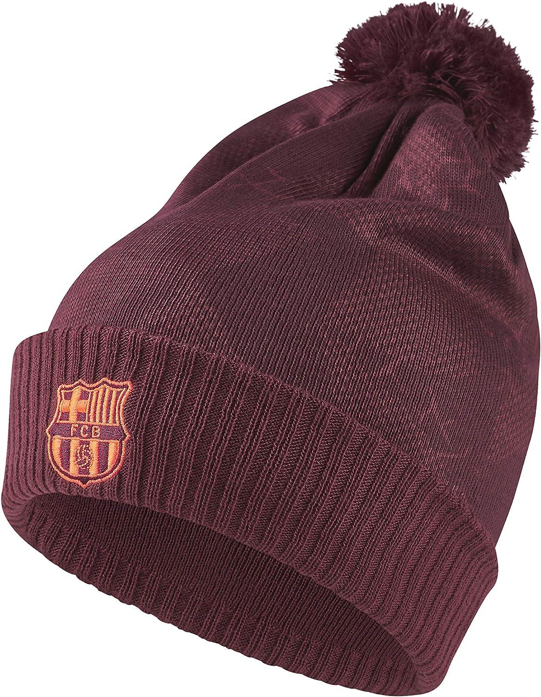 Nike FC Barcelona Knit Pom Pom Beanie New ~ 852165 455 One Size