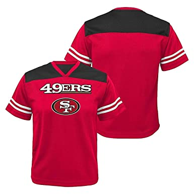 dd2aa2d94 San Francisco 49ers Red NFL Youth Team Apparel V-Neck Shirt (Small 8)
