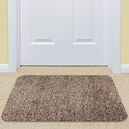 Attrayant Large Indoor Doormat Super Absorbs Mud Mat 36u0026quot;x 24u0026quot; Latex Backing  Non Slip