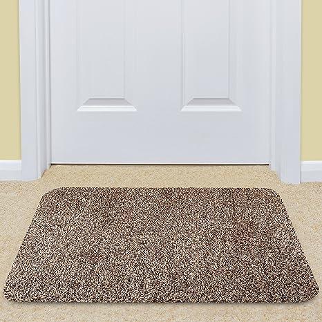 Large Indoor Doormat Super Absorbs Mud Mat 24u0026quot;x 36u0026quot; Latex Backing  Non Slip