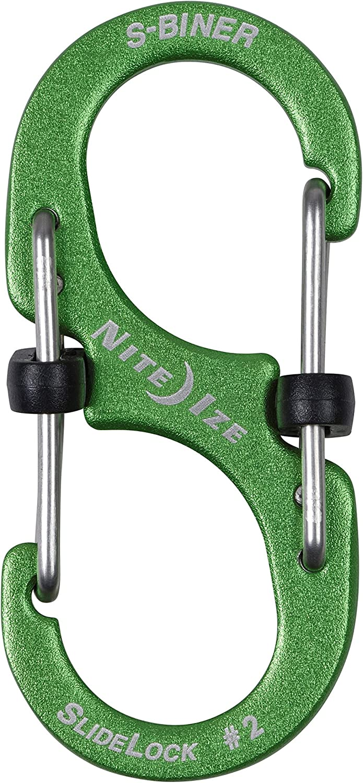 3 Piece Nite Ize LSBA234-A1-R6 S-Biner SlideLock Aluminum Combo 3 Pack Assorted
