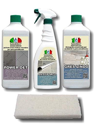 Prodotti Per Pavimenti In Gres Porcellanato.Marbec Promo Sconto 10 Kit Completo Di Prodotti Specifici Per La Pulizia Straordinaria E Ordinaria Dei Pavimenti In Gres Porcellanato
