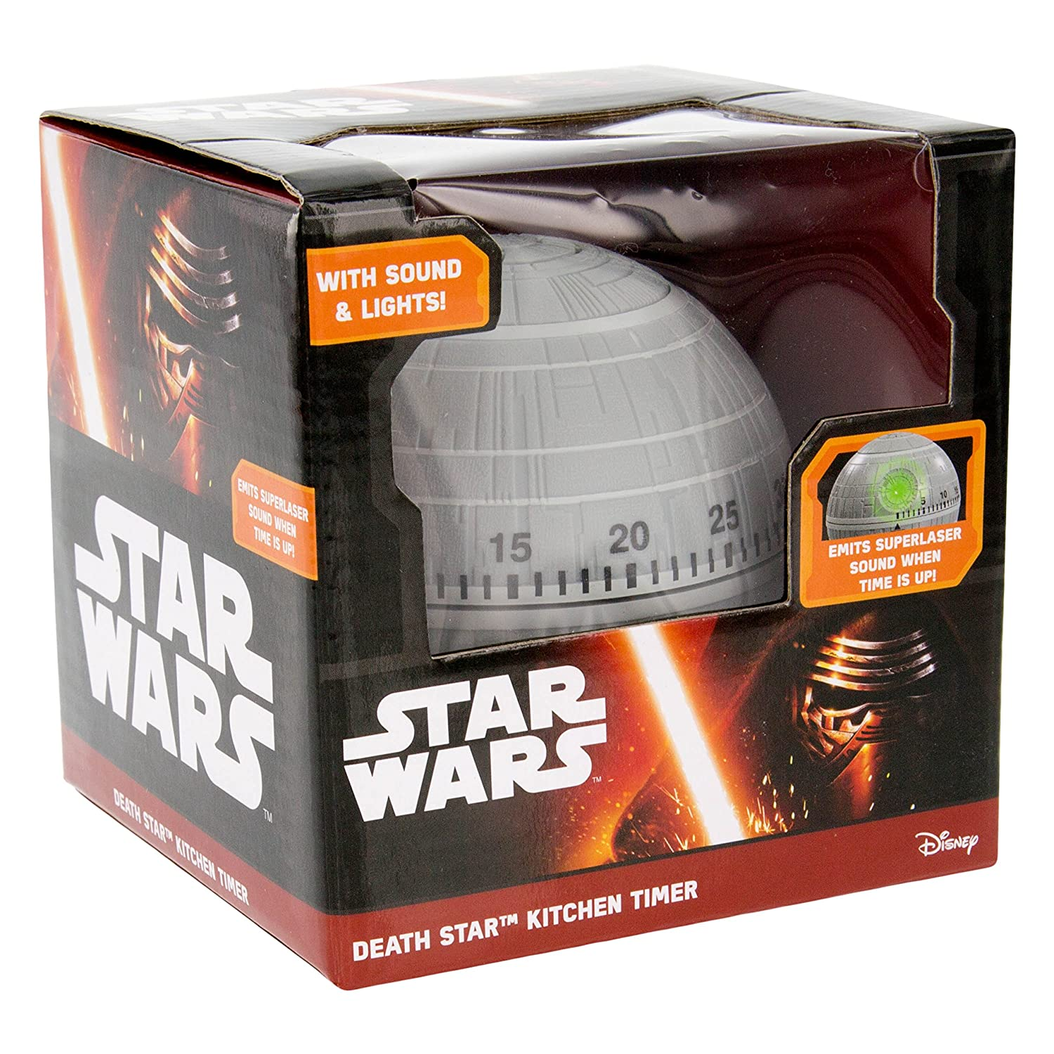 star wars star kitchen timer with lights and