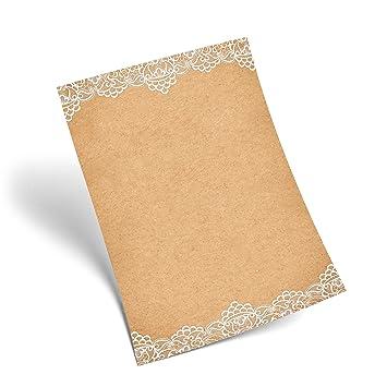 25 hojas de papel carta Punta Color Blanco vintage mármol ...