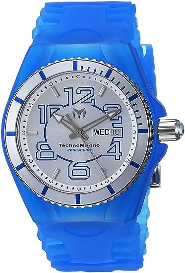 TechnoMarine TM-115140 - Reloj de pulsera hombre, Silicona, color Azul