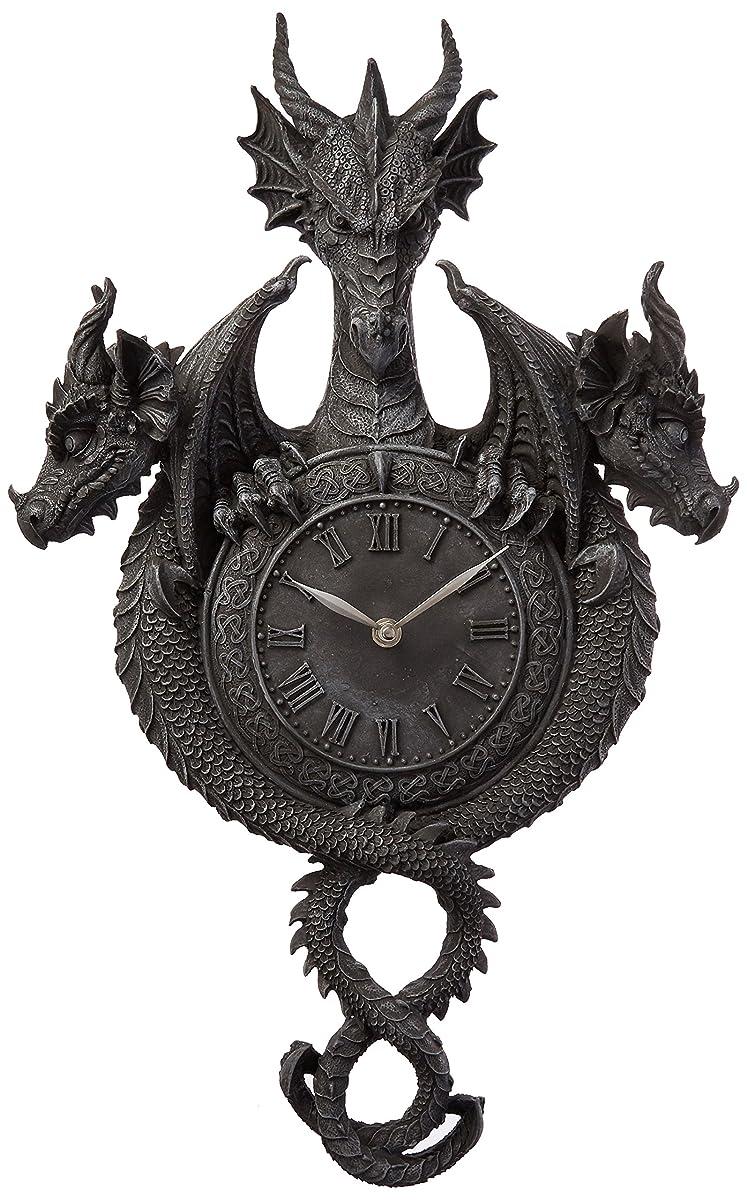Design Toscano Past, Present, Future Sculptural Dragon Wall Clock