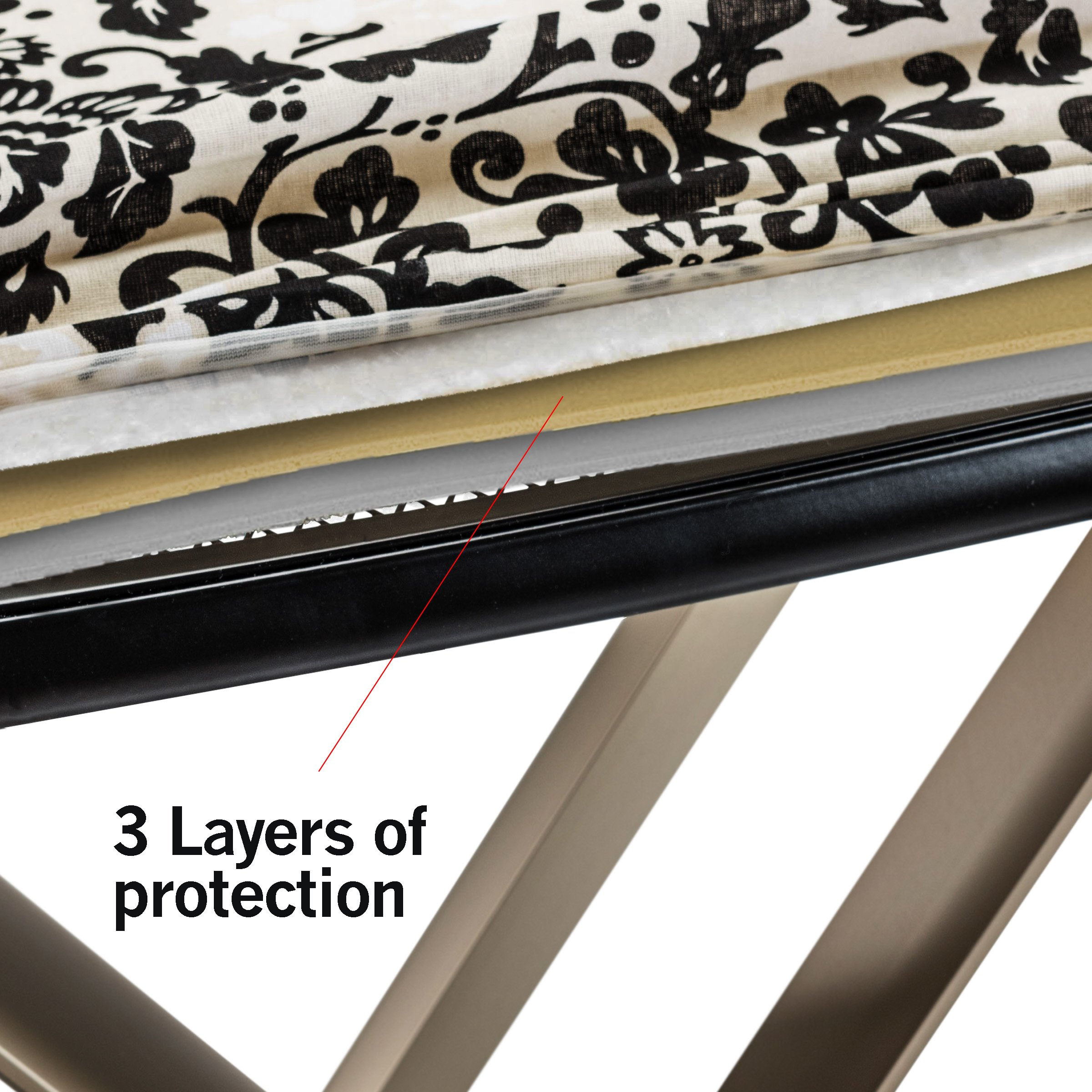 Bartnelli 51x19-Inch Multi layered T-Leg Extra Wide Ironing Board by Bartnelli (Image #4)