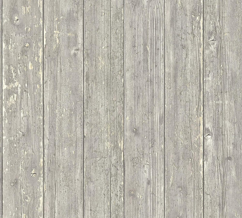 A.S Cr/éation Vliestapete Authentic Walls 2 Tapete in maritimer Vintage Holz Optik fotorealistische Holztapete 10,05 m x 0,53 m blau beige Made in Germany 365732 36573-2