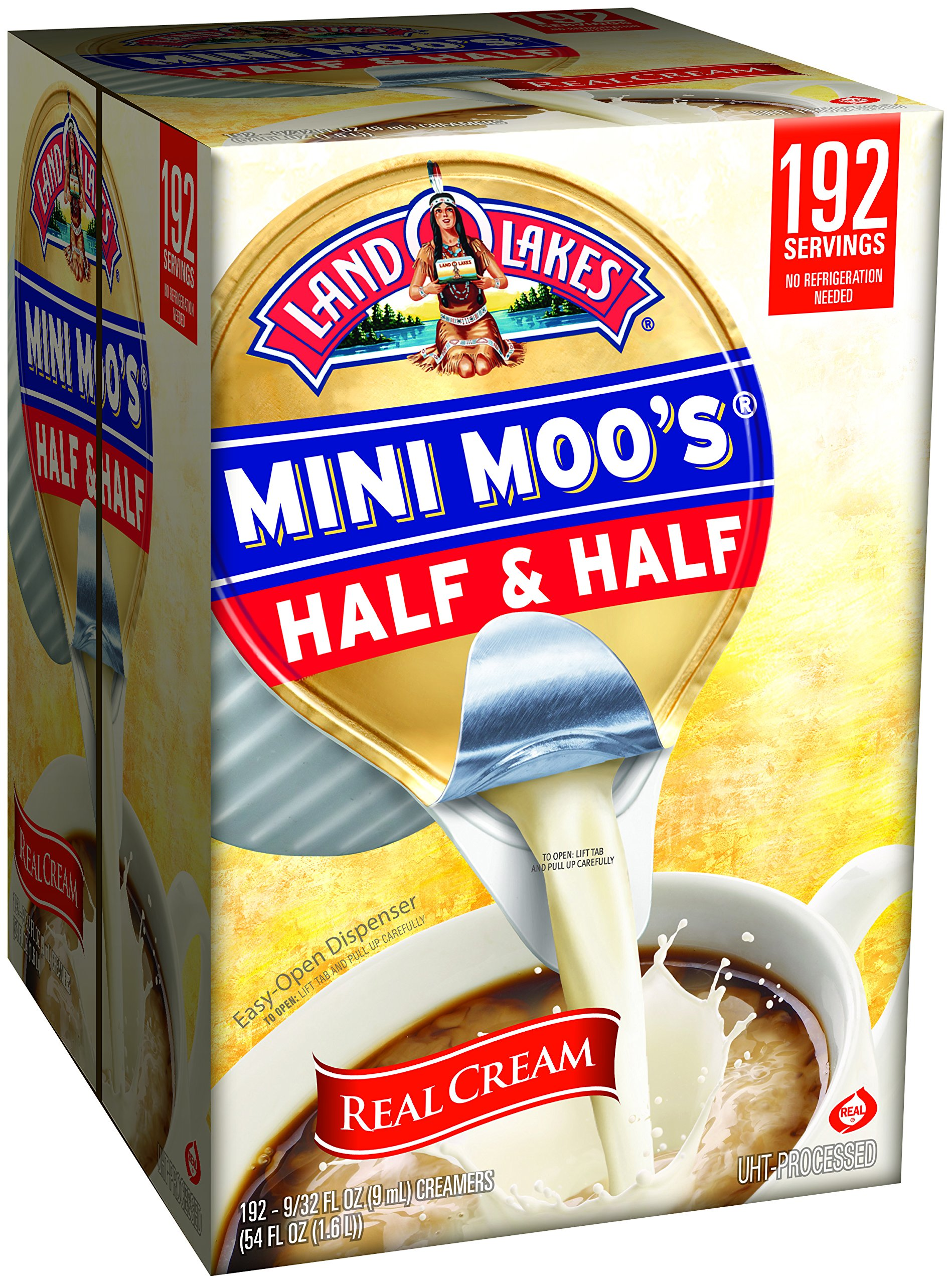 Land O Lakes Mini Moos Creamer, Half and Half Cups, 192 Count