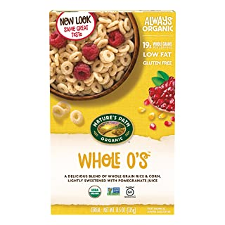 Nature's Path Whole O's Cereal, Healthy, Organic, Gluten-Free, Low Sugar, 11.5 Oz, Pack of 6