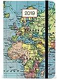 Cavallini Papers & Co., Inc. 2019, planificador semanal clásico de mapas, Multicolor